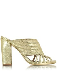Tory Burch Brida Smooth Metallic Mule