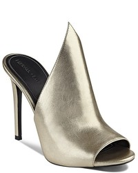 Kendall And Kylie Essie Metallic Winged High Heel Slide Sandals