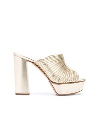 Casadei Open Toe Platform Mules