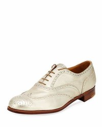 Metallic leather wing tip oxford medium 5359746