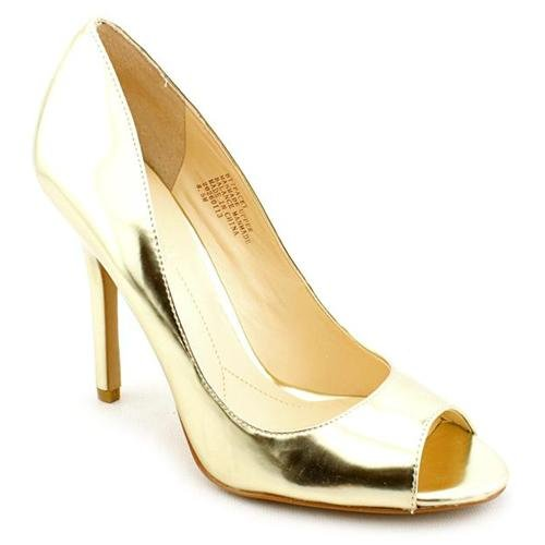 Boutique 9 Pacey Gold Peep Toe Pumps Heels Shoes | Where to buy ...