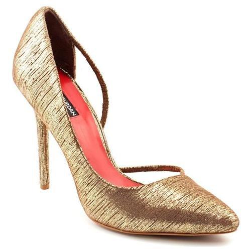 Charles Jourdan Sandra Iii Gold Leather Pumps Heels Shoes | Where