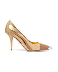 Burberry Med Metallic Leather Pumps