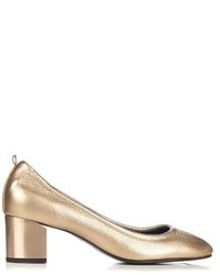 Lanvin Metallic Grained Leather Pumps