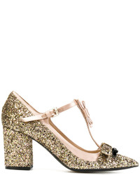 No.21 No21 Glitter Bow Detail Pumps