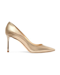 Jimmy Choo Romy 85 Mirrored Leather Pumps