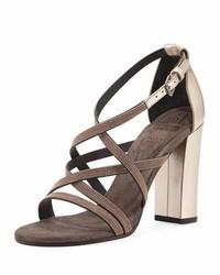 Brunello Cucinelli Monili Trim Strappy Sandal Rose Gold