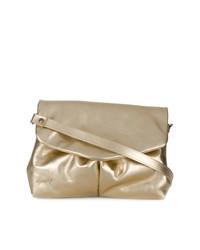 Gold Leather Satchel Bag