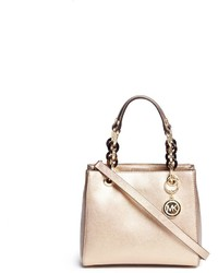 Michael Kors Michl Kors Cynthia North South Small Leather Satchel
