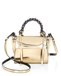 Mini angel shine metallic leather satchel medium 3879918