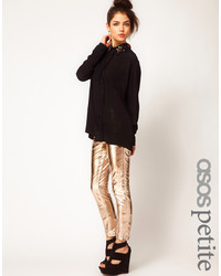 Asos Petite Rose Gold Leather Pants