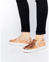 Ted Baker Keziah Metallic Leather Slip On Sneakers