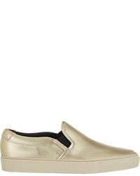 Common Projects Metallic Slip On Sneakers