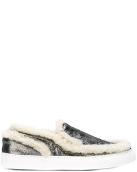 MM6 MAISON MARGIELA Furry Trim Slip On Sneakers