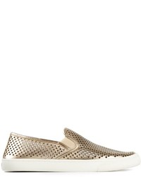 Tory Burch Metallic Perforated Sneakers