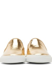 21c185db2097 Woman By Common Projects Copper Metallic Slip On Sneakers, $445 ...