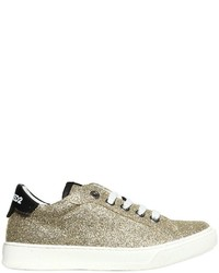 DSQUARED2 Glittered Leather Sneakers