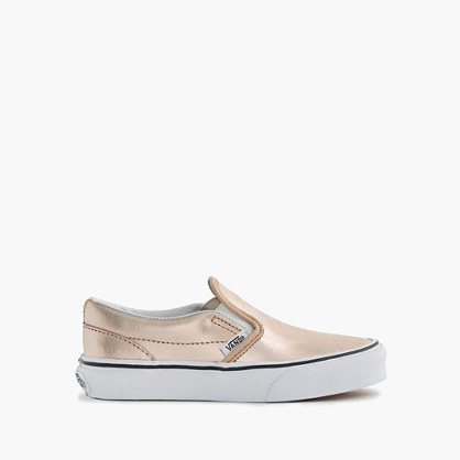 J.Crew Girls Vans Classic Slip On Sneakers