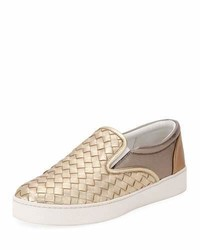 Bottega Veneta Intrecciato Leather Skate Sneaker
