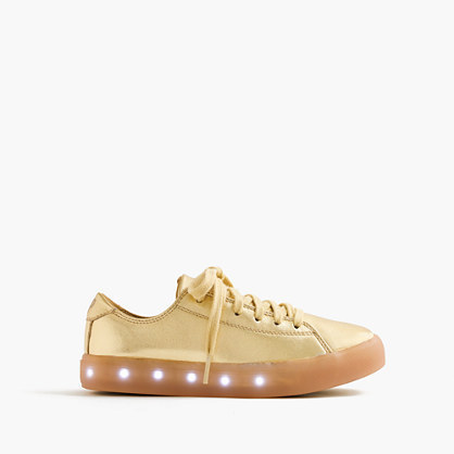 J.Crew Kids Pop Shoestm Leather Sneakers With Light Up Soles