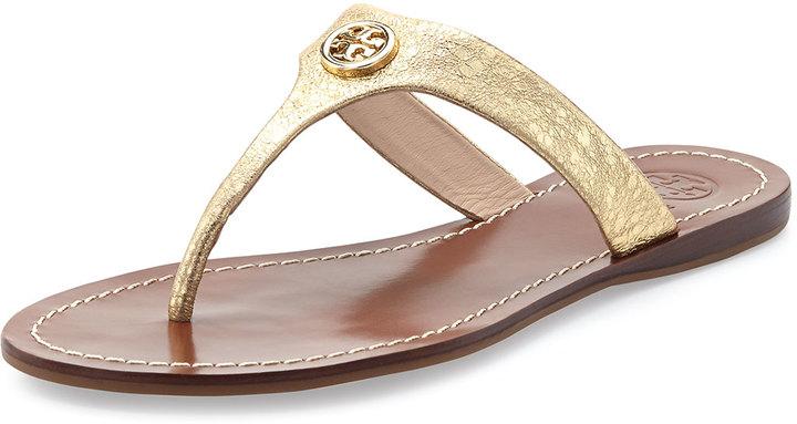 23ea3b442 ... Tory Burch Cameron Metallic Thong Sandal Saharian Gold ...