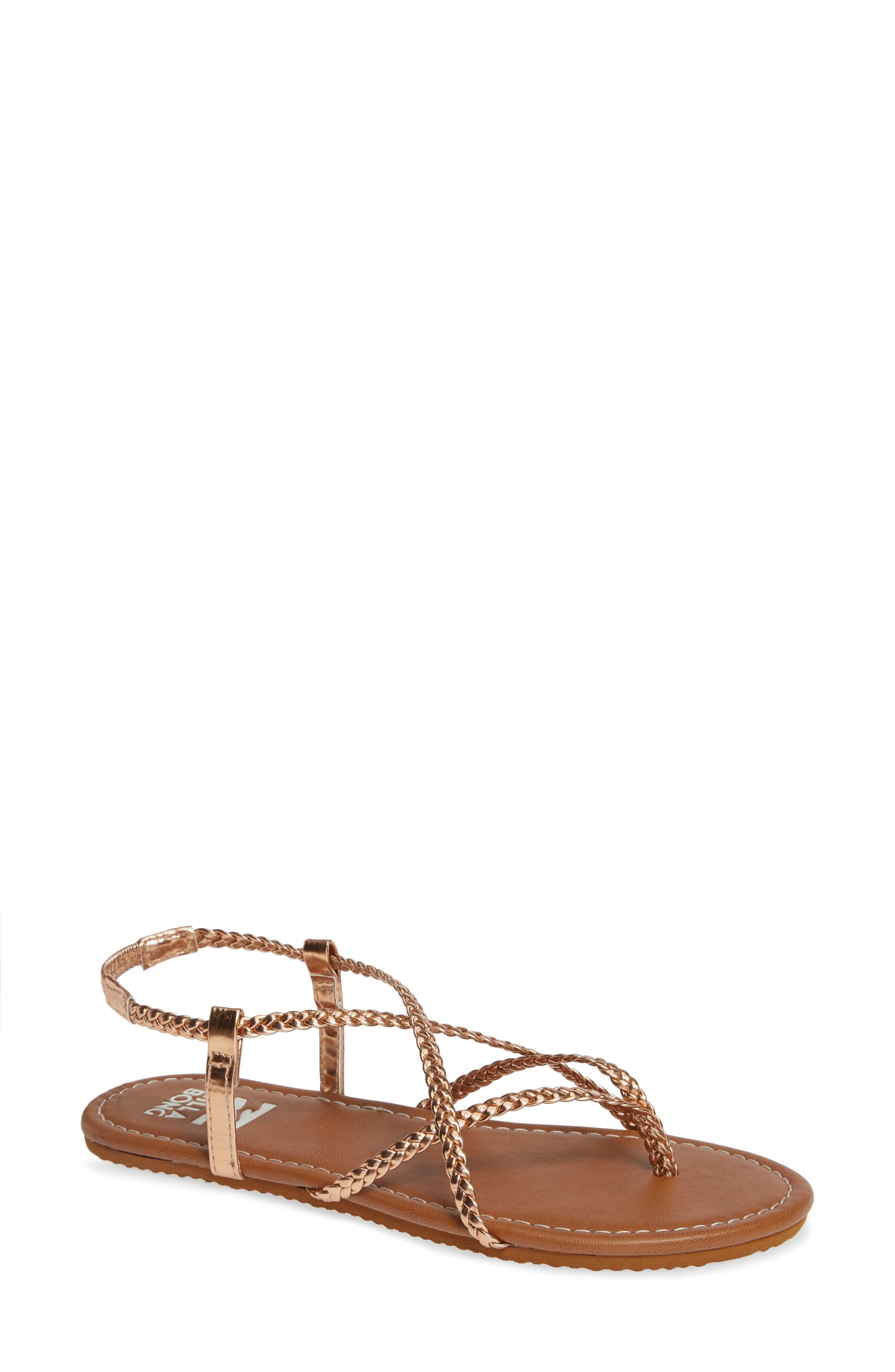 8d20faf1842f Crossing Over 2 Sandal. Gold Leather Thong Sandals by Billabong