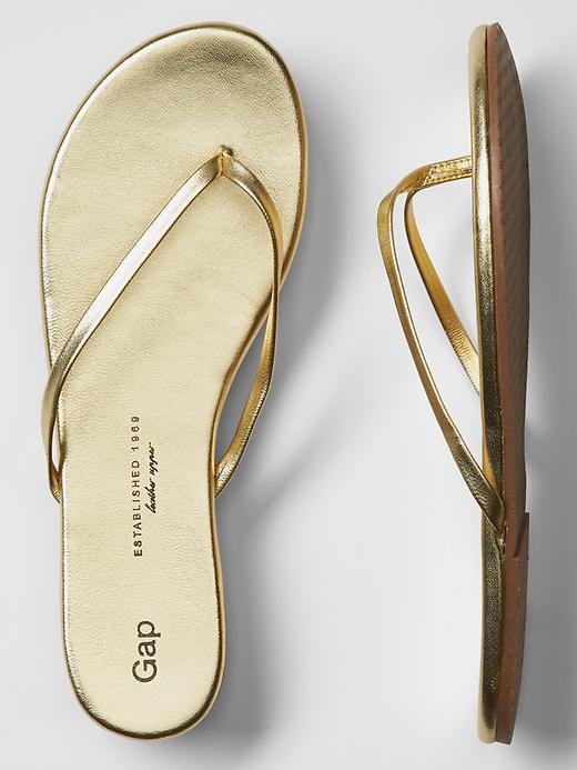 2c5650919067 ... Gold Leather Thong Sandals Gap Leather Flip Flops ...
