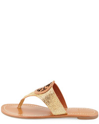 4425e8bfc ... Tory Burch Louisa Logo Thong Sandal Gold
