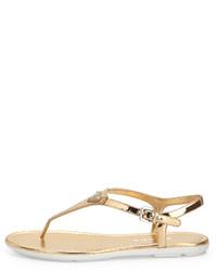 6d47255bfcd ... Prada Metallic Leather Thong Sandal Platino