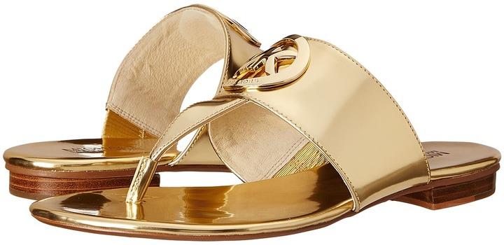 1d92c3cec83802 ... Gold Leather Thong Sandals MICHAEL Michael Kors Michl Michl Kors  Racquel Thong ...