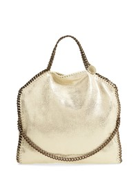 Stella McCartney Falabella Shaggy Deer Metallic Faux Leather Tote