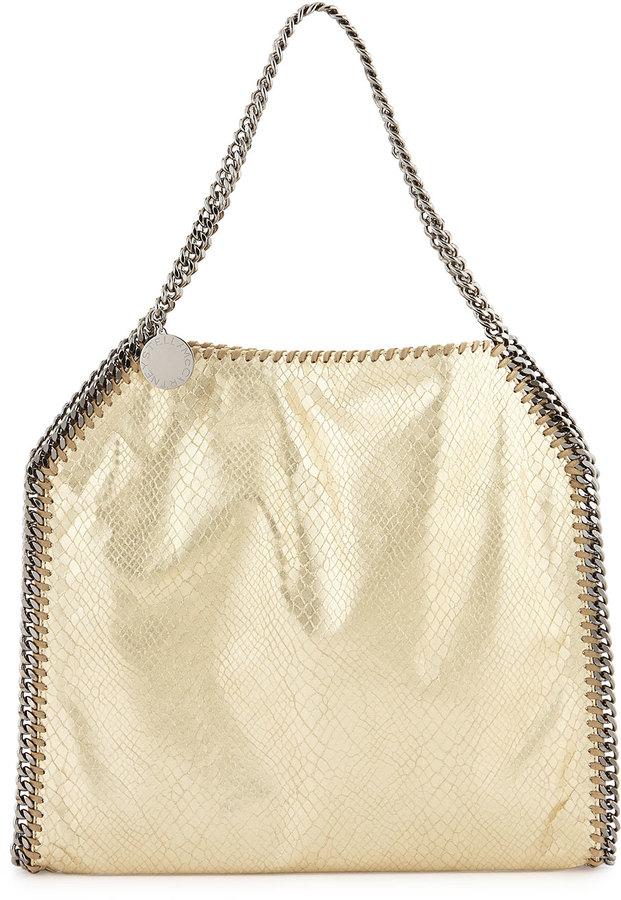 360c3745af ... Stella McCartney Falabella Small Python Print Tote Bag Gold ...