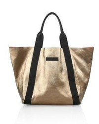 Brunello Cucinelli Large Metallic Leather Tote