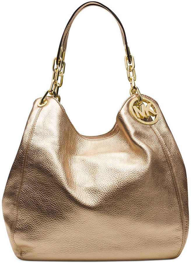 51f53ebb66 ... Leather Tote Bags MICHAEL Michael Kors Michl Michl Kors Fulton Large  Shoulder Bag ...