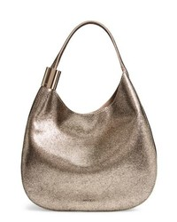 Jimmy Choo Steve Metallic Leather Hobo