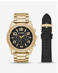 Express Oversized Rivington Multi Function Watch Gift Set