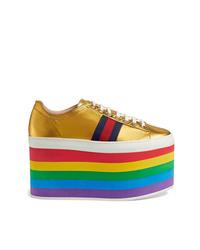 Gucci Metallic Platform Sneaker