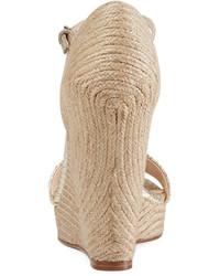 0677f2bf6427 ... Gucci Carolina Metallic Wedge 85mm Sandal Platino ...