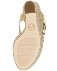 ff1ff435a79 Michael Kors Michl Kors Giovanna Metallic Leather Espadrille Wedge ...