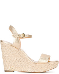 MICHAEL Michael Kors Michl Michl Kors Metallic Wedge Sandals