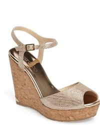 Jimmy Choo Perla Cork Wedge Sandal