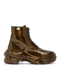 Maison Margiela Bronze Combat Boots