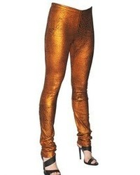 Haider Ackermann Metallic Soft Leather Leggings