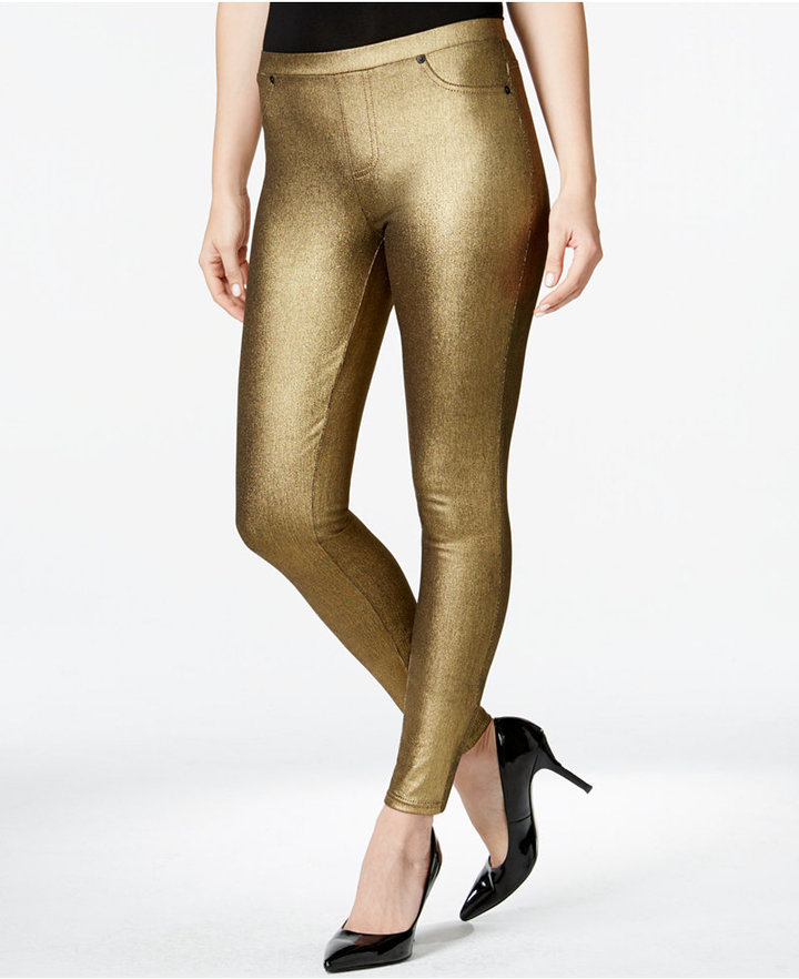 adf83d189c9bd Style&co. Style Co Pull On Metallic Twill Leggings Only At Macys ...