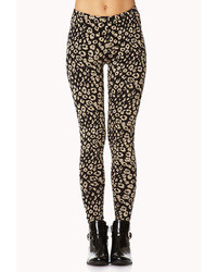 Wild leopard print leggings medium 7233
