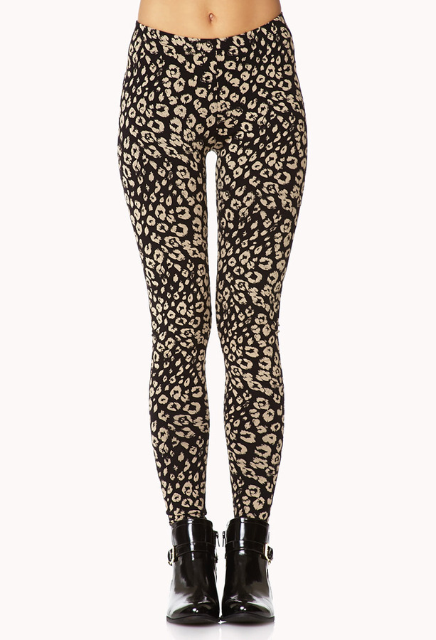 ... Gold Leopard Leggings Forever 21 Wild Leopard Print Leggings ... - Forever 21 Wild Leopard Print Leggings Where To Buy & How To Wear