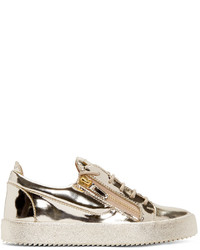 Gold Low Top Sneakers