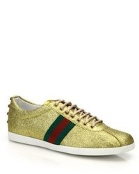 Men's Gold Sneakers by Gucci | Lookastic
