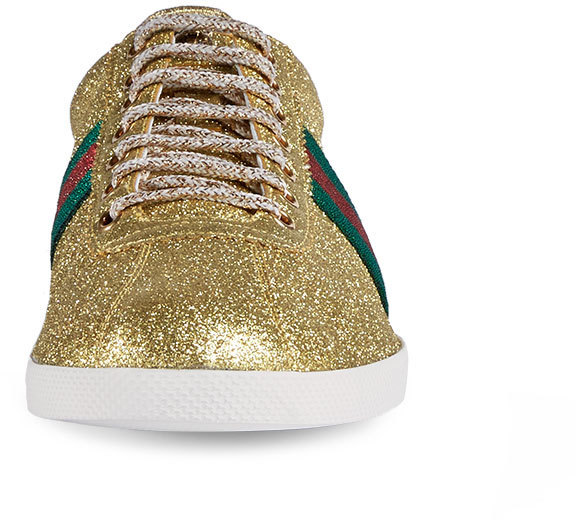 c8e4e427 Bambi Web Low Top Sneaker With Stud Detail Gold
