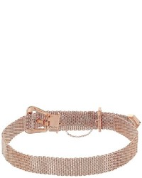 Betsey Johnson Mesh Buckle Choker Necklace Necklace